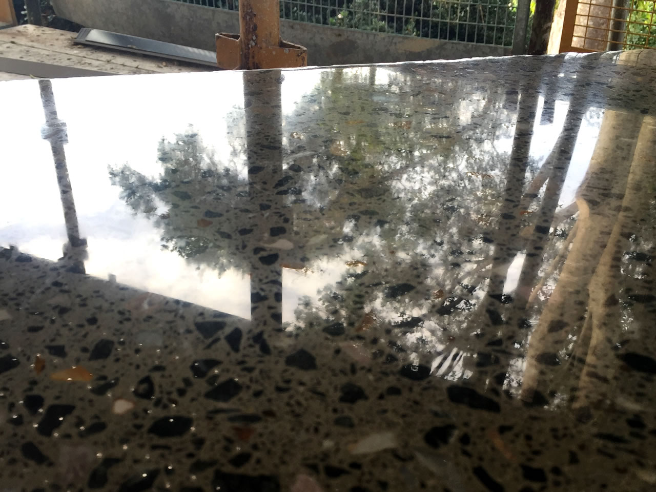 polished concrete bench top gold coast