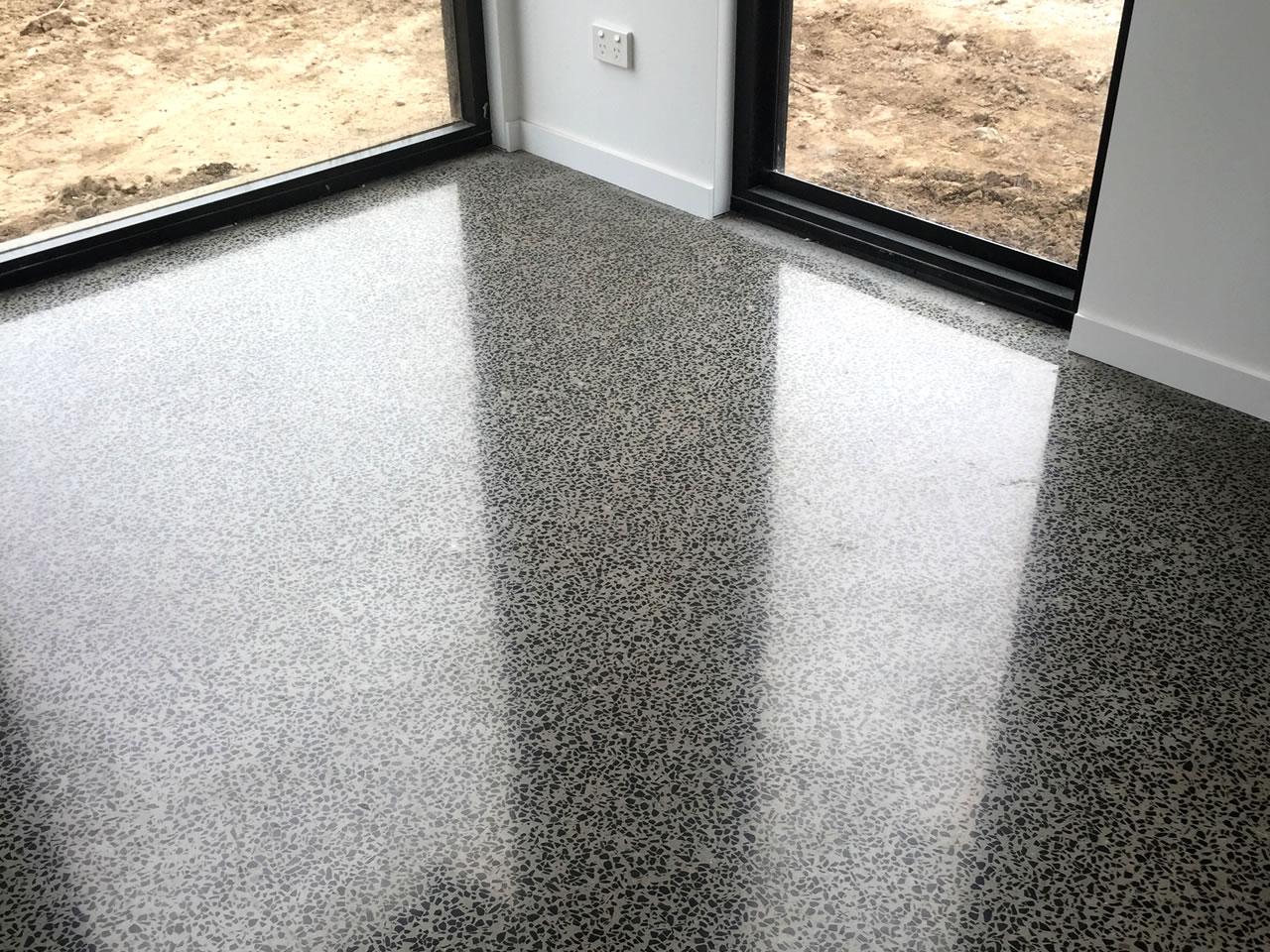 polished office concrete floor gold coast